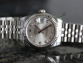 Rolex 31mm Datejust Steel/White Gold Diamond Dial