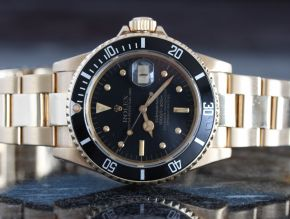 Rolex Submariner 16808 18k Yellow Gold 1980 Nipple Dial